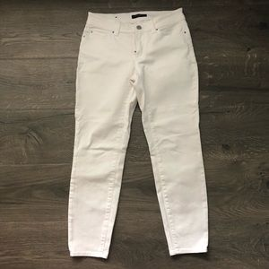 Ann Taylor ankle white jeans curvy fit 2 petite